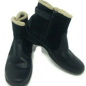 Clarks Womens Winter Fur Lined Black Boots